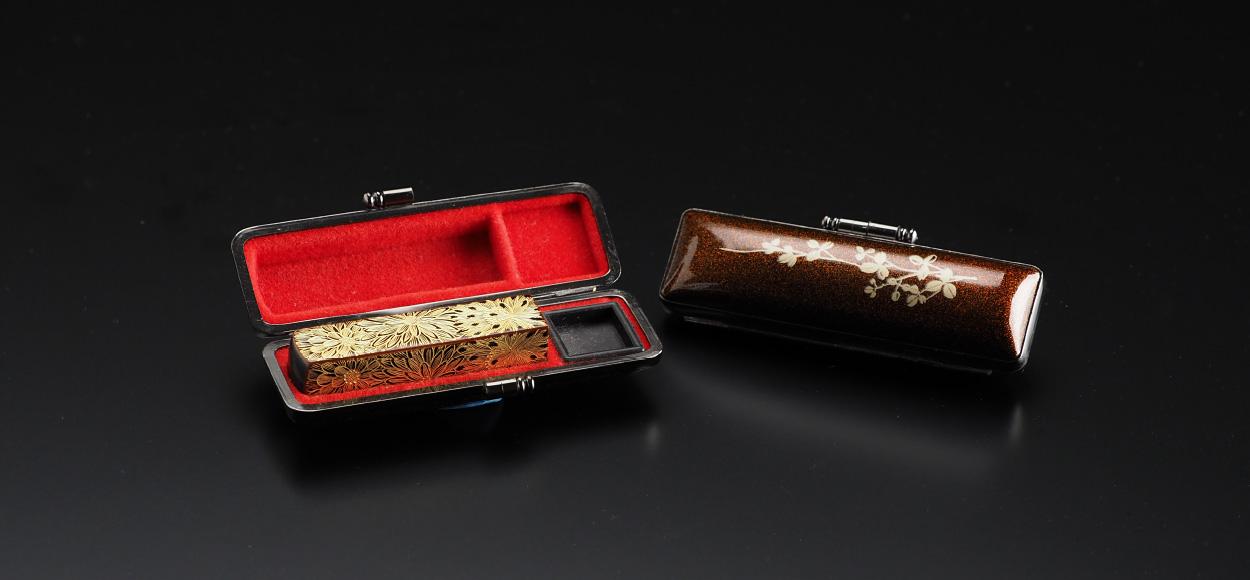写真:川連塗り印鑑 華落款シリーズ 角型別製ケース